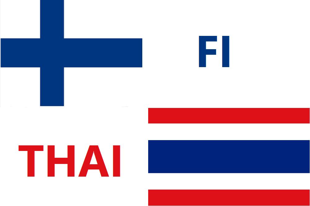 suomalaisia ja thaimaalaisia sanoja
